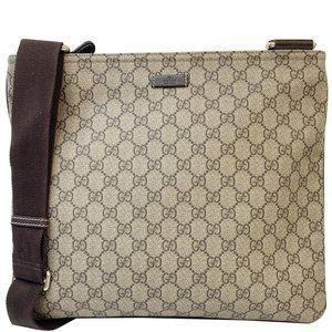 GUCCI  GG Supreme Canvas Messenger Shoulder Bag